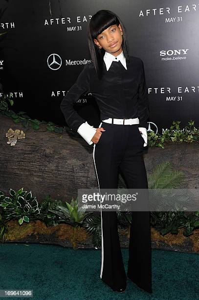 Willow Smith attends Columbia Pictures and MercedesBenz Present the US Red Carpet Premiere of AFTER EARTH at Ziegfeld Theatre on May 29 2013 in New...