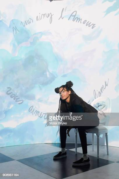 Willow Smith attends Le Bal Surrealiste Dior during Haute Couture Spring Summer 2018 show as part of Paris Fashion Week on January 22 2018 in Paris...