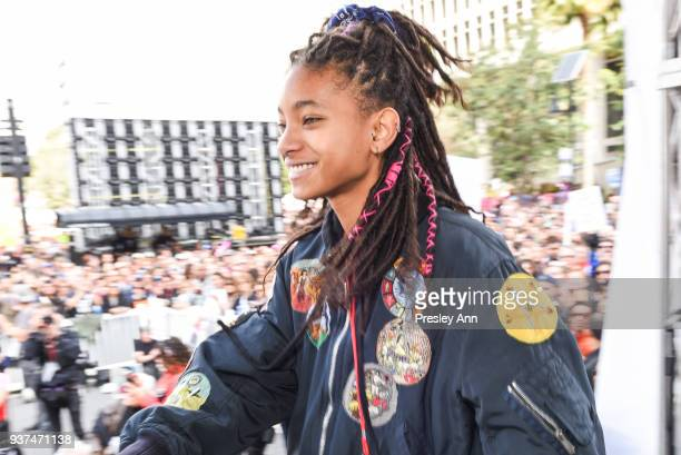 Willow Smith attends March For Our Lives Los Angeles on March 24 2018 in Los Angeles California