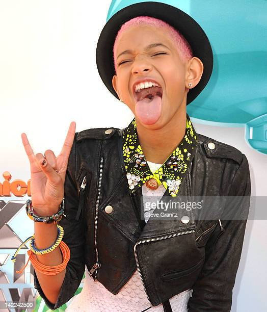 Willow Smith attends the 2012 Nickelodeon Kids' Choice Awards at Galen Center on March 31 2012 in Los Angeles California