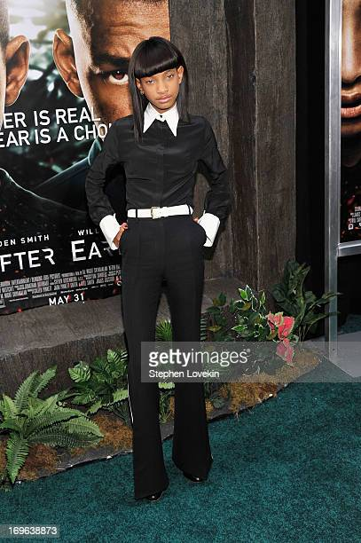 Willow Smith attends the After Earth premiere at Ziegfeld Theater on May 29 2013 in New York City