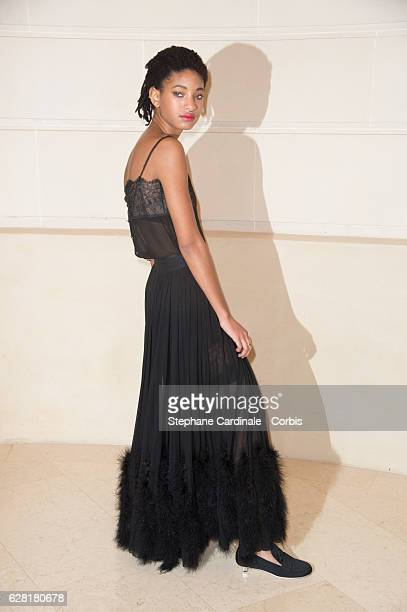 Willow Smith attends the 'Chanel Collection des Metiers d'Art 2016/17 Paris Cosmopolite' show on December 6 2016 in Paris France