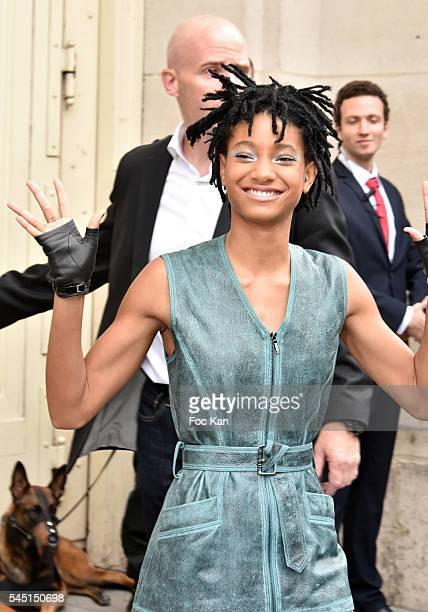 Willow Smith attends the Chanel Haute Couture Fall/Winter 20162017 show as part of Paris Fashion Week on July 5 2016 in Paris France