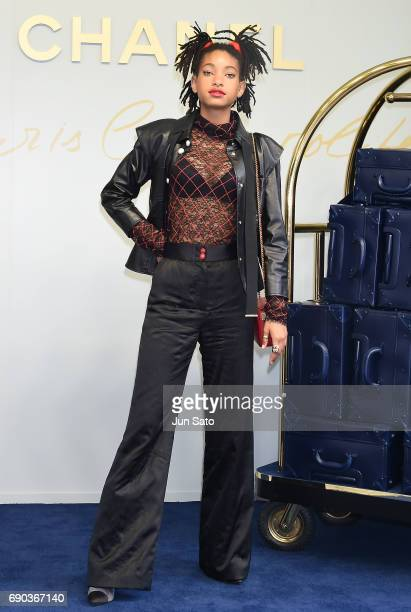 Willow Smith attends the CHANEL Metiers D'art Collection Paris Cosmopolite show at the Tsunamachi Mitsui Club on May 31 2017 in Tokyo Japan