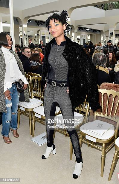 Willow Smith attends the Chanel show as part of the Paris Fashion Week Womenswear Fall/Winter 2016/2017 on March 8 2016 in Paris France