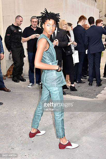 Willow Smith attends the Chanel show during Paris Fashion Week Haute Couture Fall/Winter 20162017 on July 5 2016 in Paris France