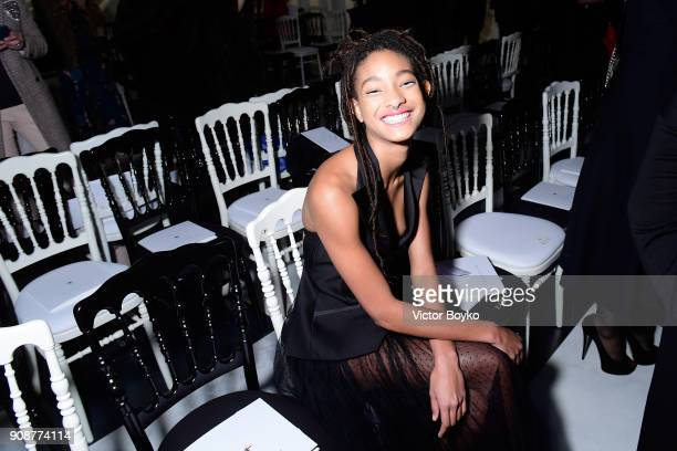 Willow Smith attends the Christian Dior Haute Couture Spring Summer 2018 show as part of Paris Fashion Week on January 22 2018 in Paris France