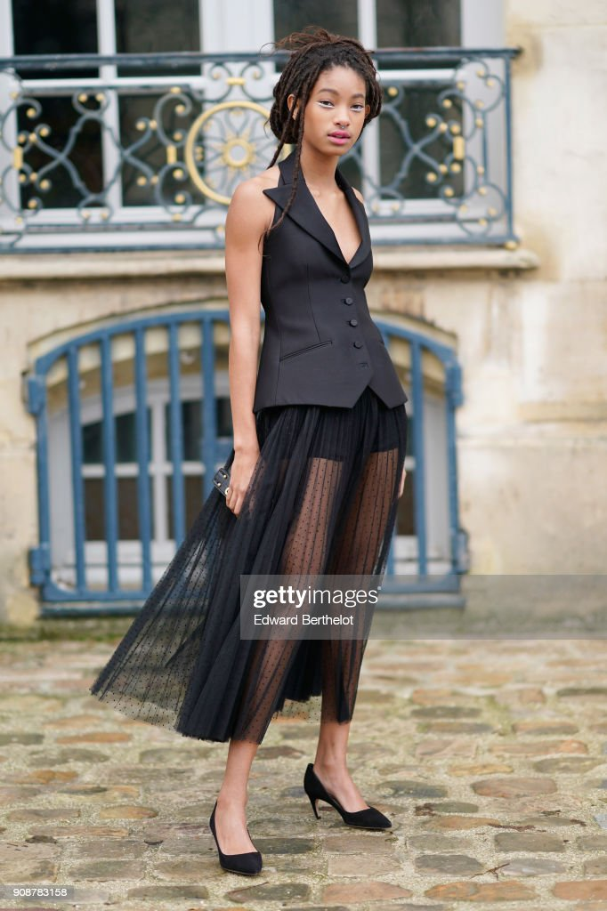 Christian Dior : Outside Arrivals - Paris Fashion Week - Haute Couture Spring Summer 2018