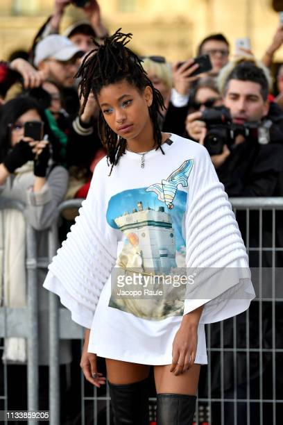 Willow Smith attends the Louis Vuitton show as part of the Paris Fashion Week Womenswear Fall/Winter 2019/2020 on March 05 2019 in Paris France