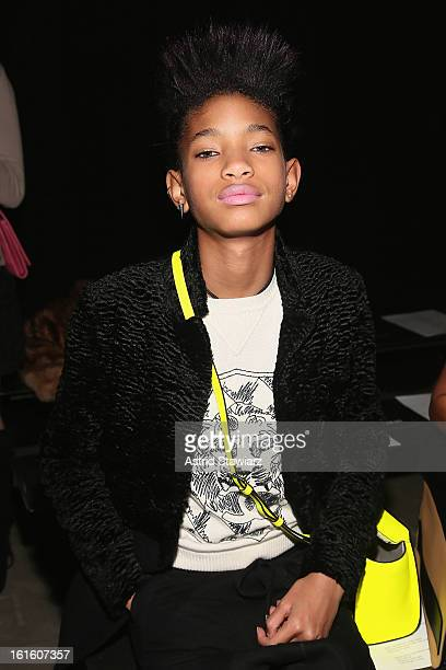 Willow Smith attends the Narciso Rodriguez Fall 2013 fashion show during MercedesBenz Fashion Week at Sir Stage37 on February 12 2013 in New York City
