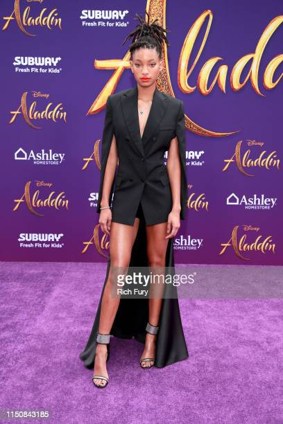 Willow Smith attends the premiere of Disney's Aladdin on May 21 2019 in Los Angeles California