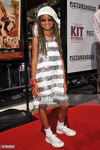 Willow Smith attends the premiere of Kit Kittredge An American Girl at The Grove on June 14 2008 in Los Angeles California