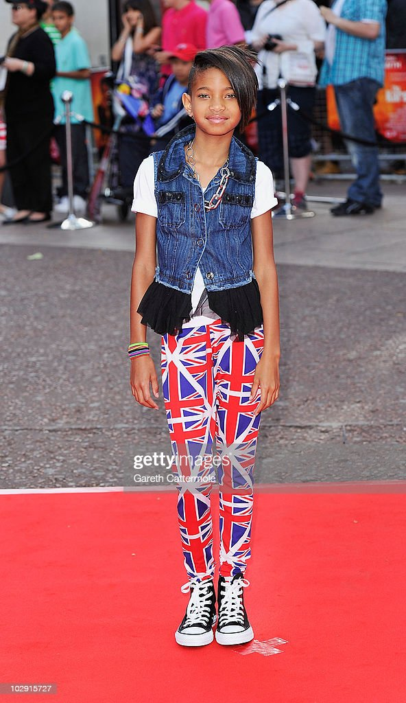 Willow Smith attends the UK Film Premiere of The Karate Kid at Odeon Leicester Square on July 15, 2010 in London, England.
