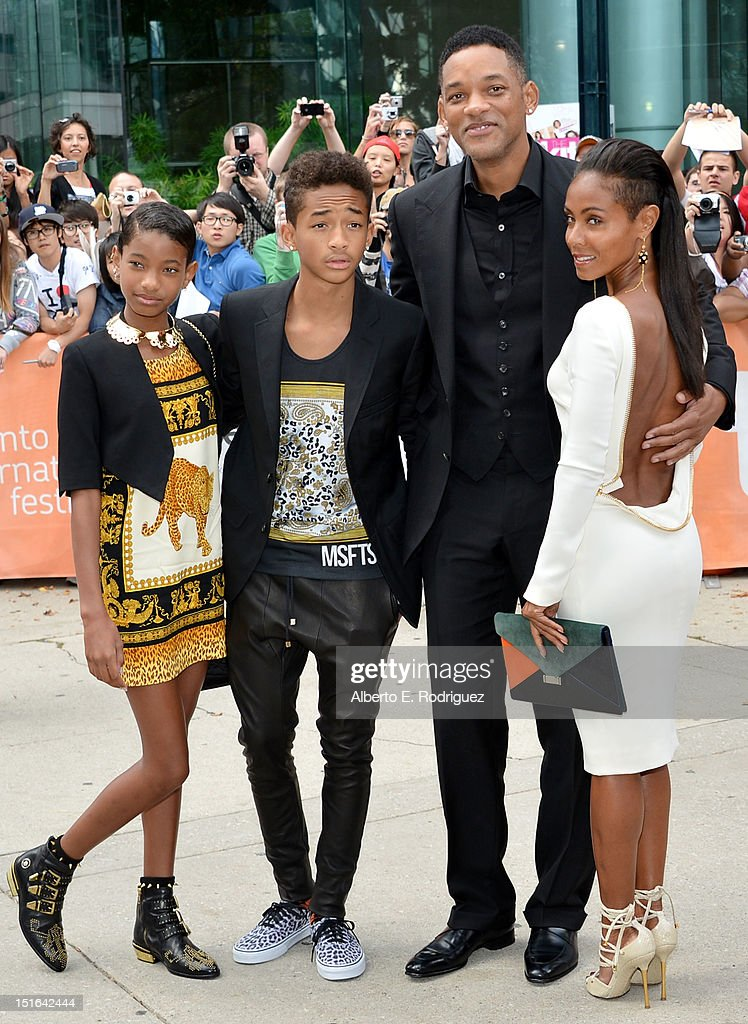 Willow Smith, Jaden Smith, actor Will Smith and actress Jada Pinkett Smith attend the 'Free Angela & All Political Prisoners' premiere during the 2012 Toronto International Film Festival at Roy Thomson Hall on September 9, 2012 in Toronto, Canada.
