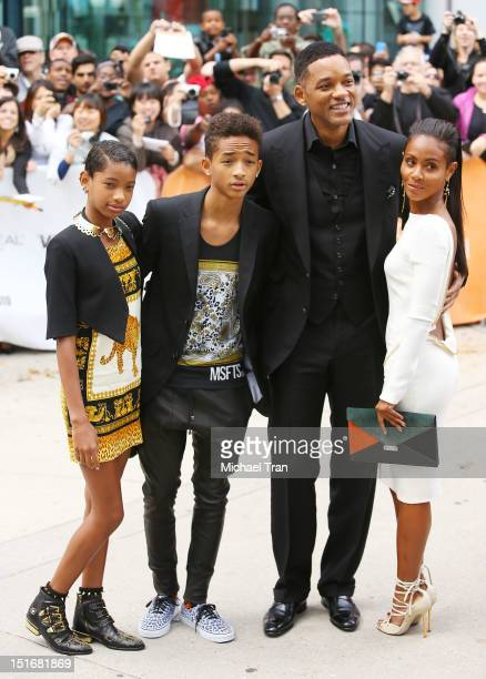 Willow Smith Jaden Smith Will Smith and Jada Pinkett Smith arrive at Free Angela All Political Prisoners premiere during the 2012 Toronto...