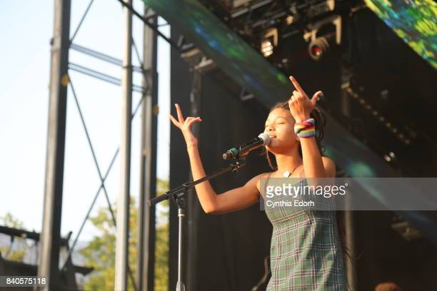 Willow Smith performs at Afropunk Fest at Commodore Barry Park on August 26 2017 in the Brooklyn borough of New York City