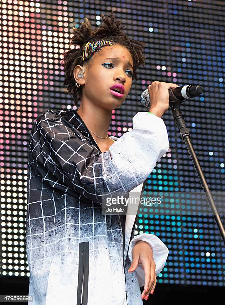 Willow Smith performs on stage at Finsbury Park at the New Look Wireless Festival 2015Day 3 on July 5 2015 in London England
