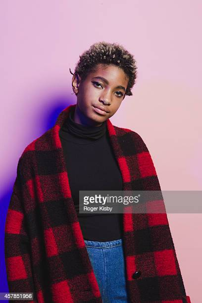 Willow Smith poses for a portrait backstage at Day 2 of the Fader Fort presented by Converse at Converse Rubber Tracks Studio on October 24 2014 in...