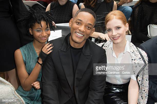 Willow Smith Will Smith and Jessica Chastain attend the Chanel Haute Couture Fall/Winter 20162017 show as part of Paris Fashion Week on July 5 2016...