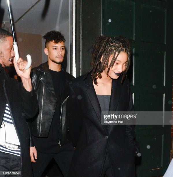 Willow Smith's and Tyler Cole are seen walking in midtown on February 12 2019 in New York City