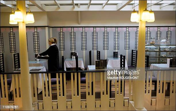 Willow tea room designed by Charles Rennie Mackintosh in Glasgow United Kingdom on April 24th 2006