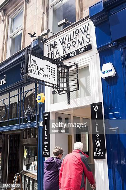 willow tea room entrance, buchanan street, glasgow, uk - tea room stock pictures, royalty-free photos & images