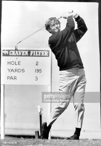 Wills Master Golf Tournament -- Bob Shaw at the Second. October 20, 1970. .