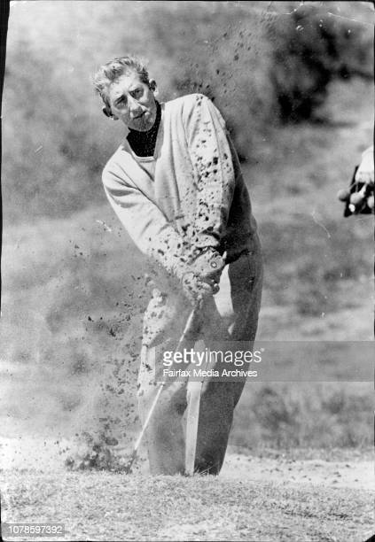 Wills Master Golf Tournament.Ted Ball plays from a bunker at the second. October 20, 1970.