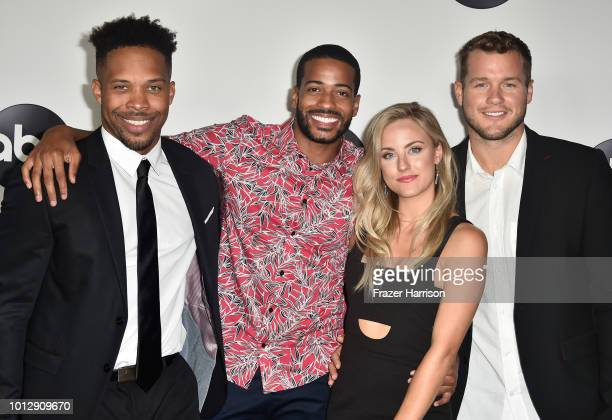 Wills Reid Eric Bigger Kendall Long and Colton Underwood attend the Disney ABC Television TCA Summer Press Tour at The Beverly Hilton Hotel on August...