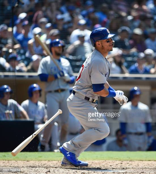 Willson Contreras of the Chicago Cubs bats during a baseball game against the San Diego Padres at PETCO Park on July 15 2018 in San Diego California