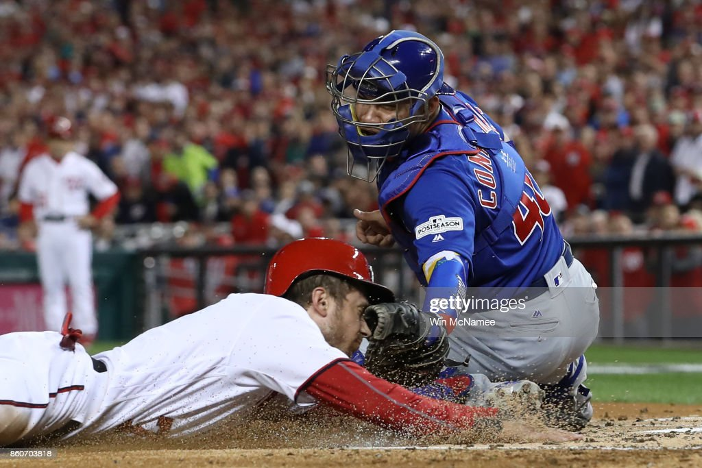 Divisional Round - Chicago Cubs v Washington Nationals - Game Five : News Photo