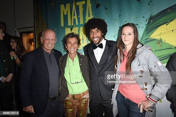 Willy Bogner and Sonia Bogner, Dante Bonfim Costa Santos of FC Bayern and Florinda Bogner attend the 'Mata Mata' Premiere at ARRI Kino on May 11,...