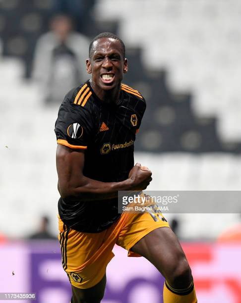 Willy Boly of Wolverhampton Wanderers celebrates after scoring a goal to make it 0-1 during to the UEFA Europa League group K match between Besiktas...
