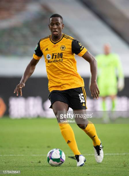 Willy Boly of Wolverhampton Wanderers during the Carabao Cup second round match between Wolverhampton Wanderers and Stoke City at Molineux on...