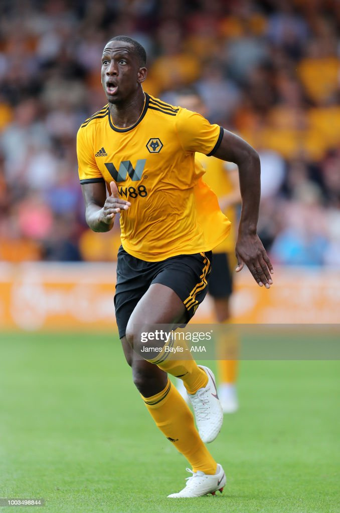 Willy Boly of Wolverhampton Wanderers during the Pre Season Friendly between Wolverhampton Wanderers and Ajax at Banks' Stadium on July 19, 2018 in Walsall, England.