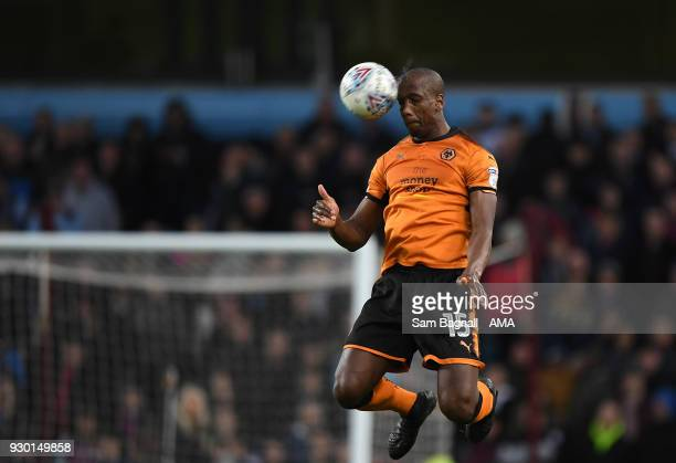 Willy Boly of Wolverhampton Wanderers during the Sky Bet Championship match between Aston Villa and Wolverhampton Wanderers at Villa Park on March 10...