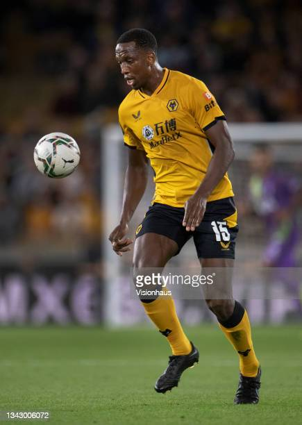 Willy Boly of Wolverhampton Wanderers in action during the Carabao Cup Third Round match between Wolverhampton Wanderers and Tottenham Hotspur at...