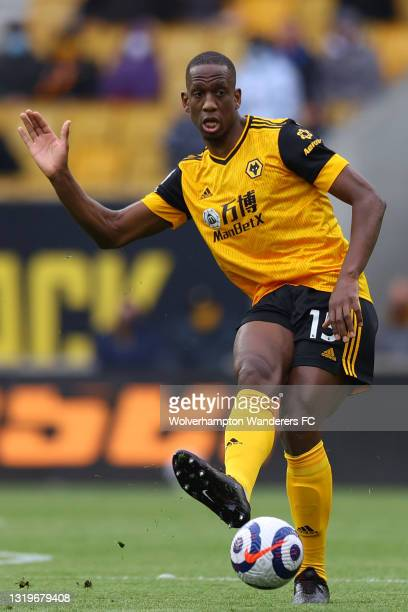 Willy Boly of Wolverhampton Wanderers in action during the Premier League match between Wolverhampton Wanderers and Manchester United at Molineux on...