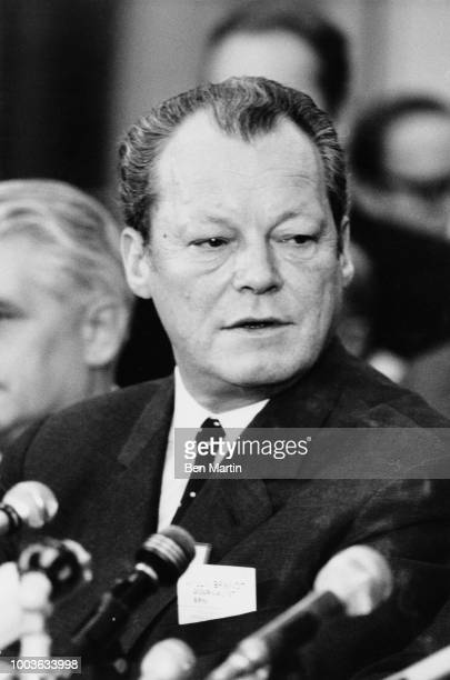 Willy Brandt German Chancellor in Warsaw Dec 7 1970 addressing Assembly