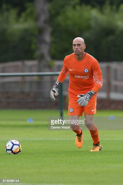 Willy Caballero of Chelsea during a friendly match between Chelsea and Fulham at Chelsea Training Ground on July 15 2017 in Cobham England