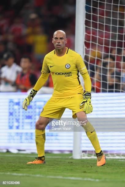 Willy Caballero of Chelsea during a friendly match between Chelsea and Arsenal at Birds Nest on July 22 2017 in Beijing China