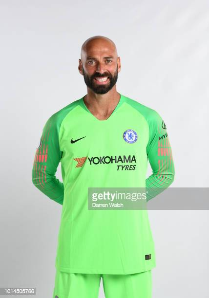Willy Caballero of Chelsea during the Media Access Day at Chelsea Training Ground on August 9 2018 in Cobham England