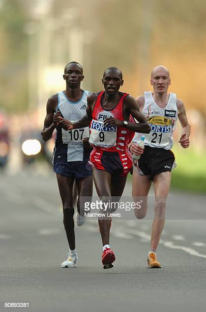 Willy Cheruiyot of Kenya competes during the Rotterdam Marathon on April 4 2004 in Rotterdam Netherlands
