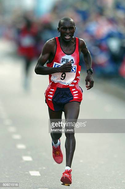 Willy Cheruiyot of Kenya pictured during the Rotterdam Marathon on April 4 2004 in Rotterdam Netherlands