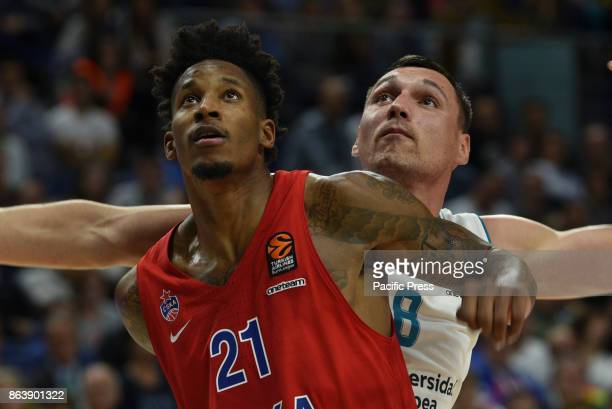 Willy Clyburn #21 of CSKA Moscow in action during the Euroleague basketball match between Real Madrid and CSKA Moscow at WiZink Center in Madrid Real...