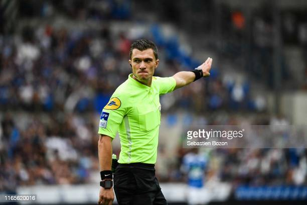 Willy Delajod referee during the Ligue 1 match between Strasbourg and Monaco at Stade de la Meinau on September 1 2019 in Strasbourg France