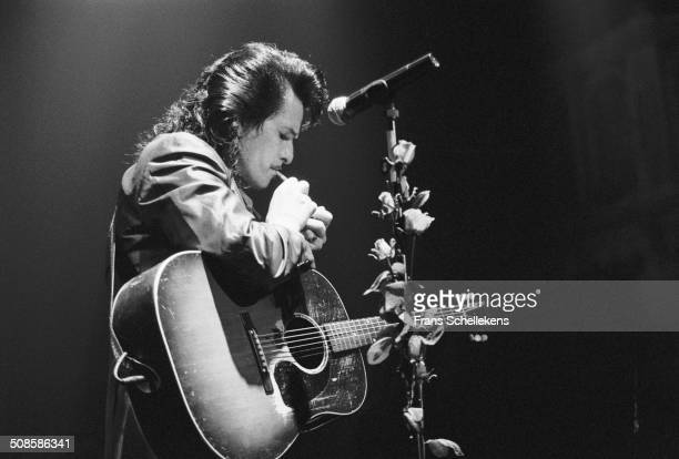 Willy DeVille vocal performs at the Heineken Festival at the Doelen in Rotterdam Netherlands on 22nd October 1992