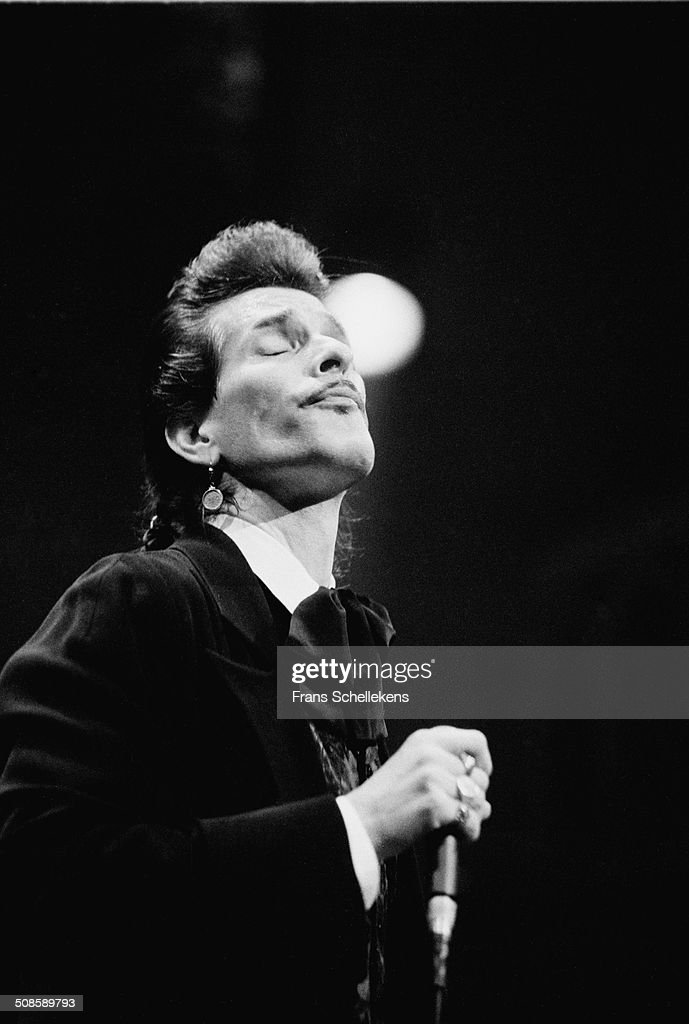 Willy DeVille, vocal-guitar, performs at the Paradiso on 5th July 1996 in Amsterdam, Netherlands.