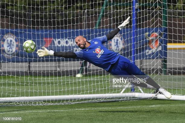 Willy Gaballero of Chelsea during a training session at Chelsea Training Ground on July 27 2018 in Cobham England