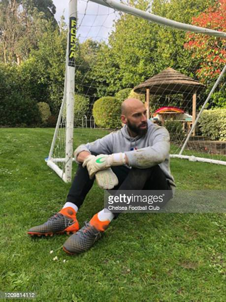 Willy Gaballero of Chelsea trying to keep fit at home on April 9 2020 in London England